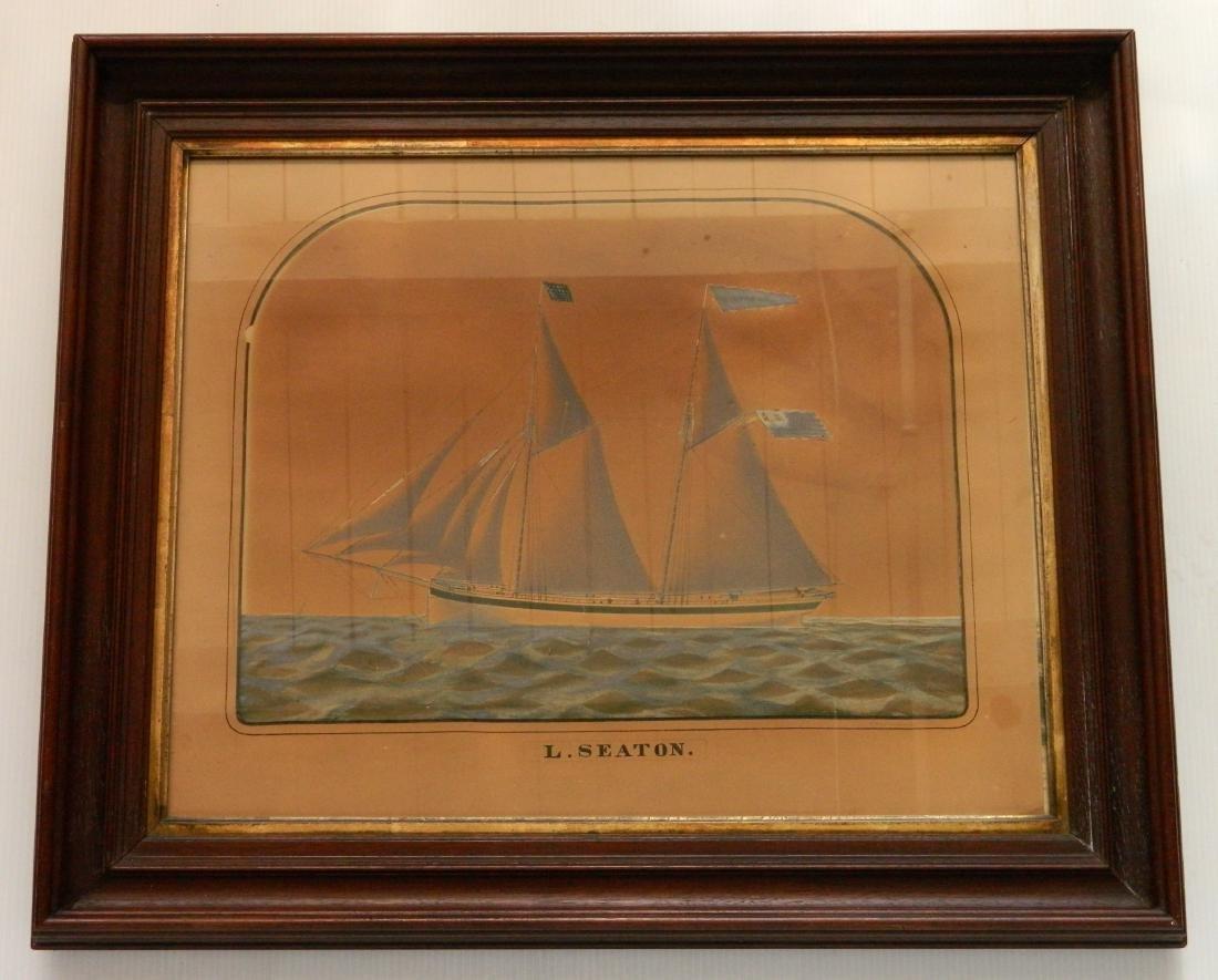 Charles W. Norton watercolor and graphite - 2
