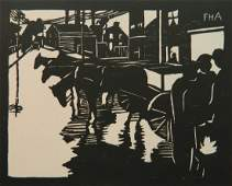 Frank H. Anderson woodcut