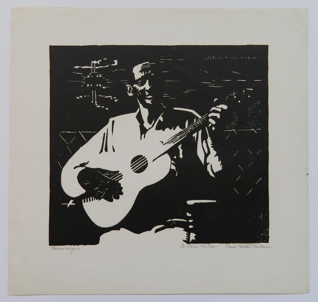 Frank H. Anderson woodcut - 2