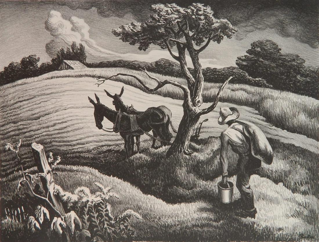 Thomas Hart Benton lithograph