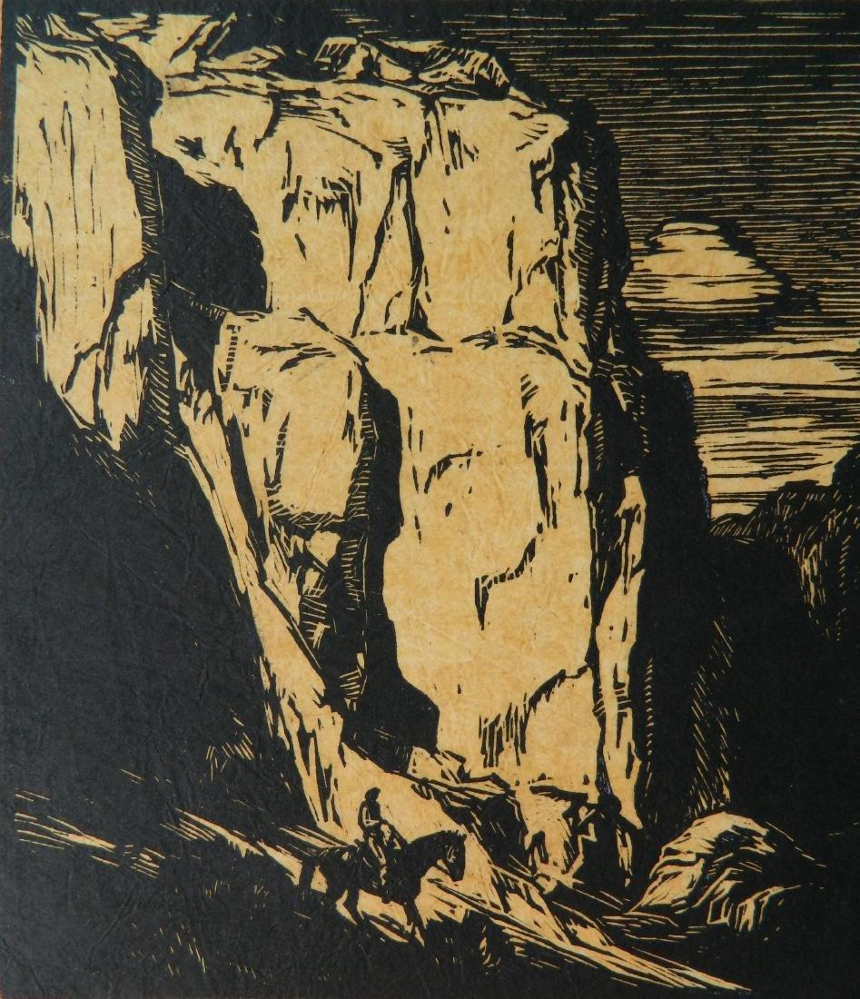 Carl O. Borg woodcut