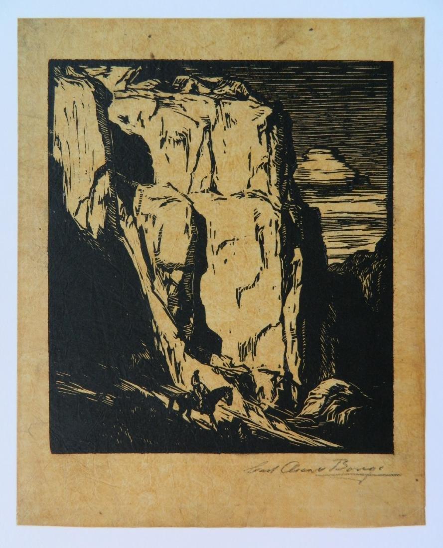 Carl O. Borg woodcut - 2