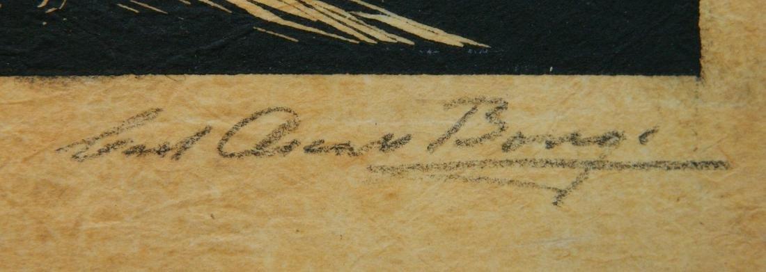 Carl O. Borg woodcut - 3