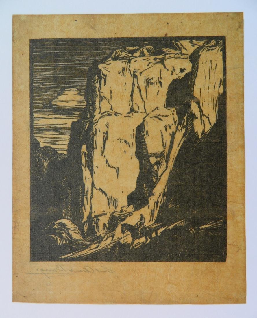 Carl O. Borg woodcut - 4