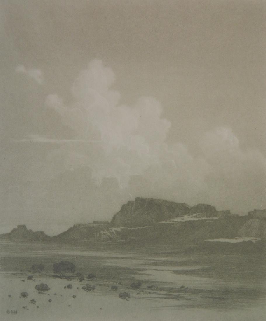 George Elbert Burr aquatint
