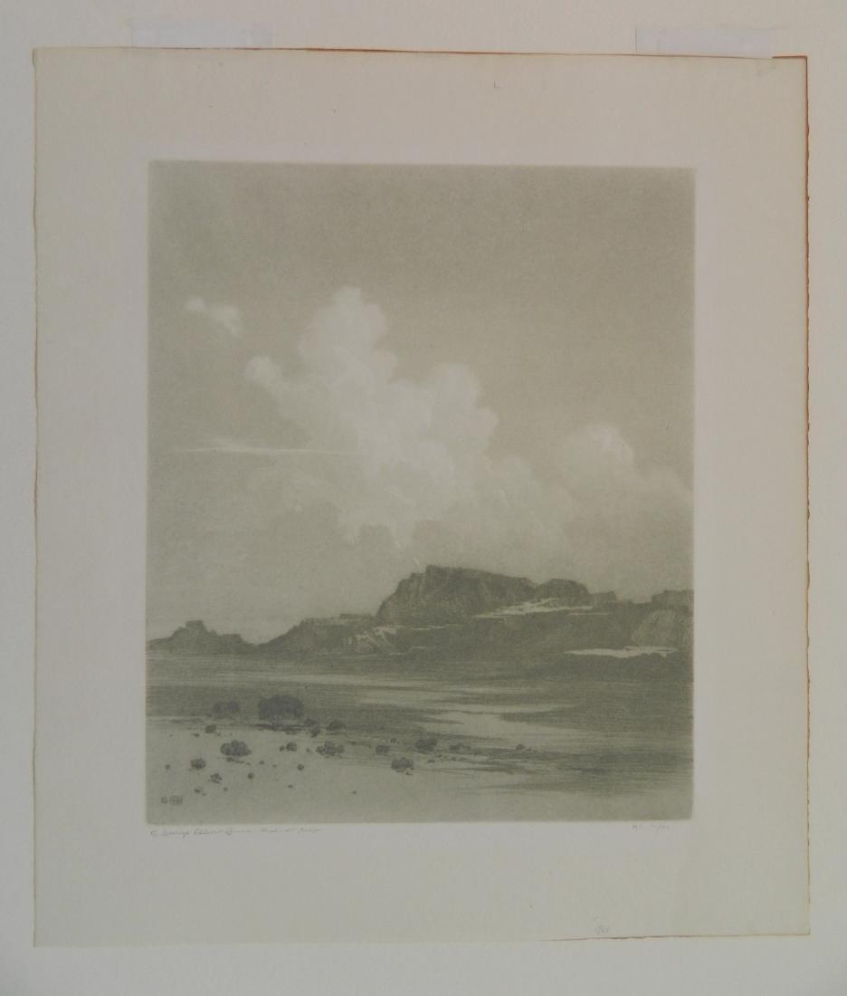 George Elbert Burr aquatint - 2