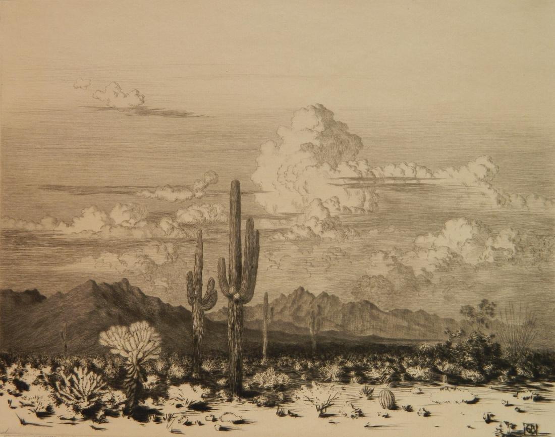George Elbert Burr etching