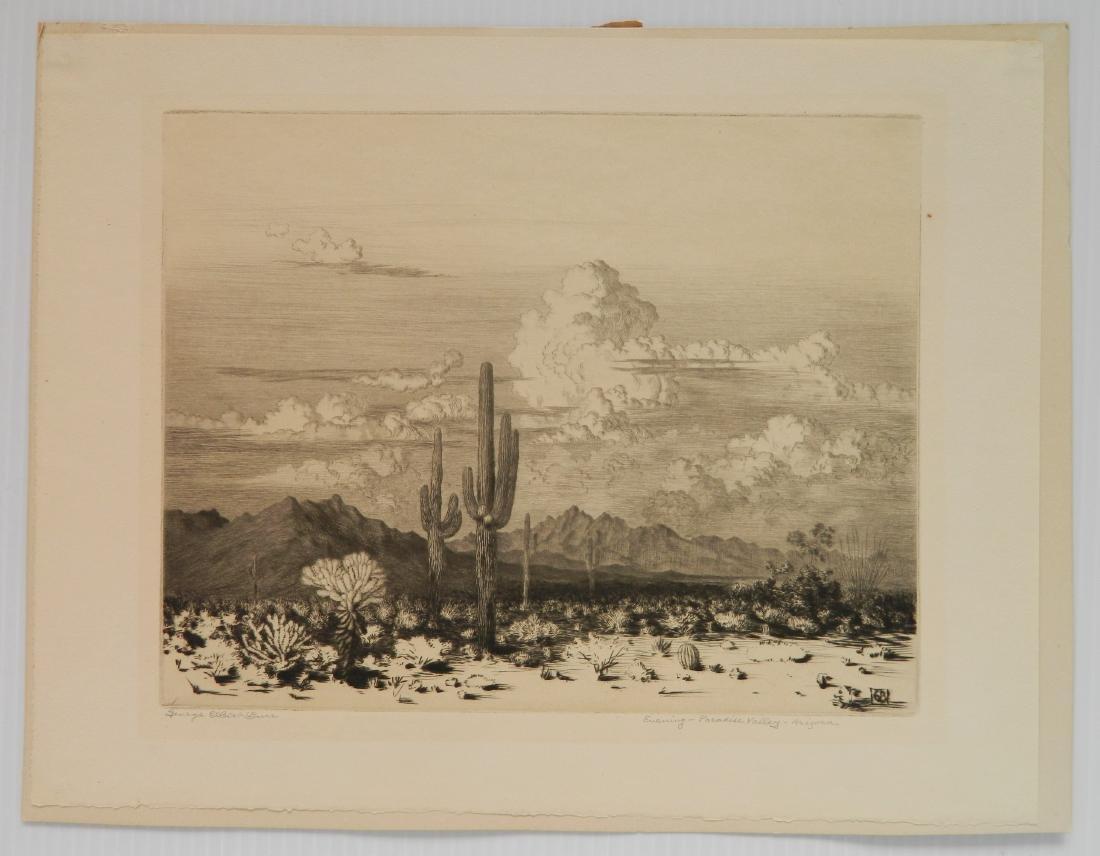 George Elbert Burr etching - 2