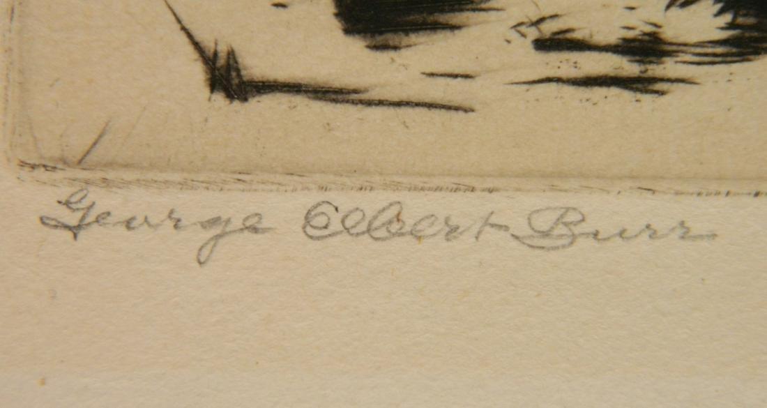 George Elbert Burr etching - 3