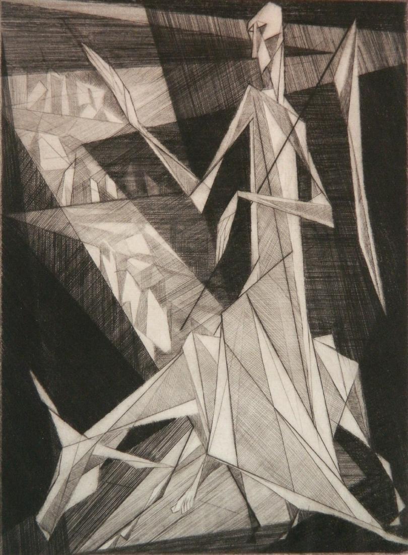 Isaac Friedlander etching