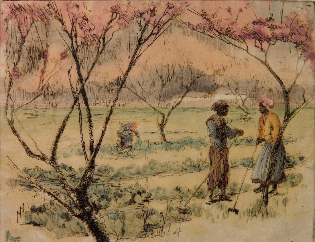 Helen Hyde etching
