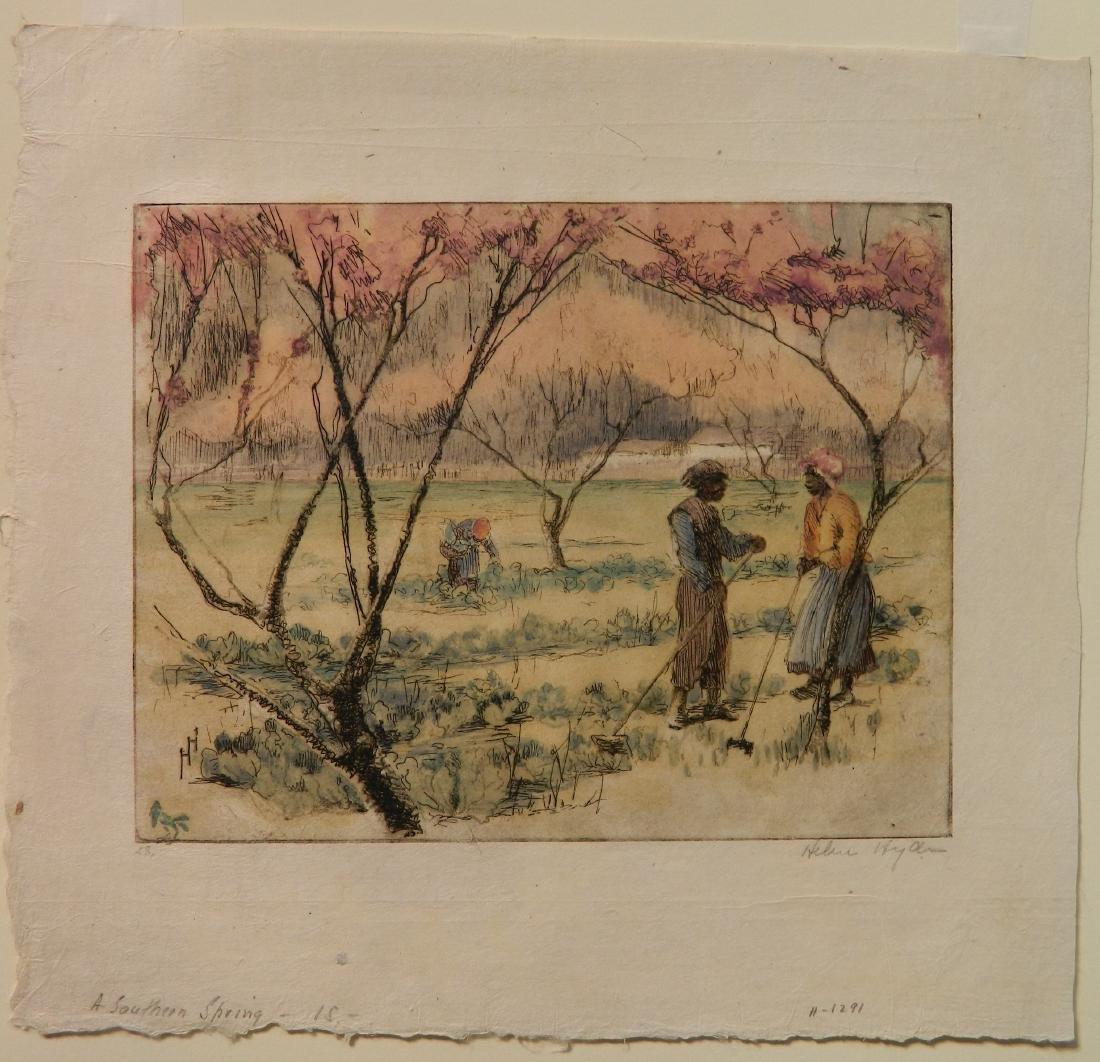 Helen Hyde etching - 2