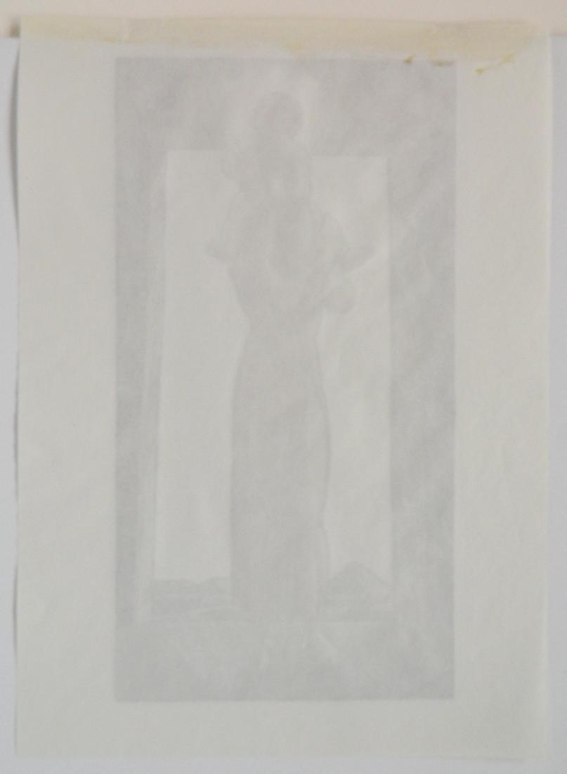 Rockwell Kent chiaroscuro zinc engraving - 3
