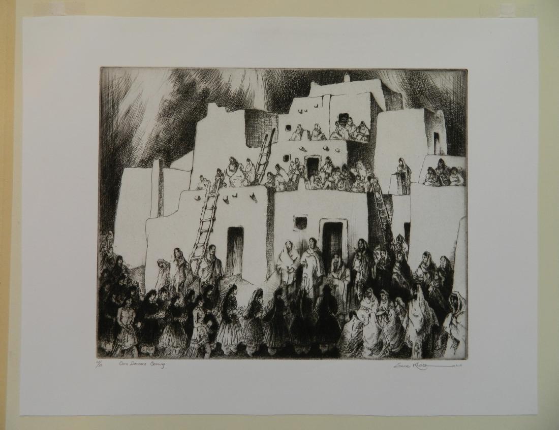 Gene Kloss etching - 2