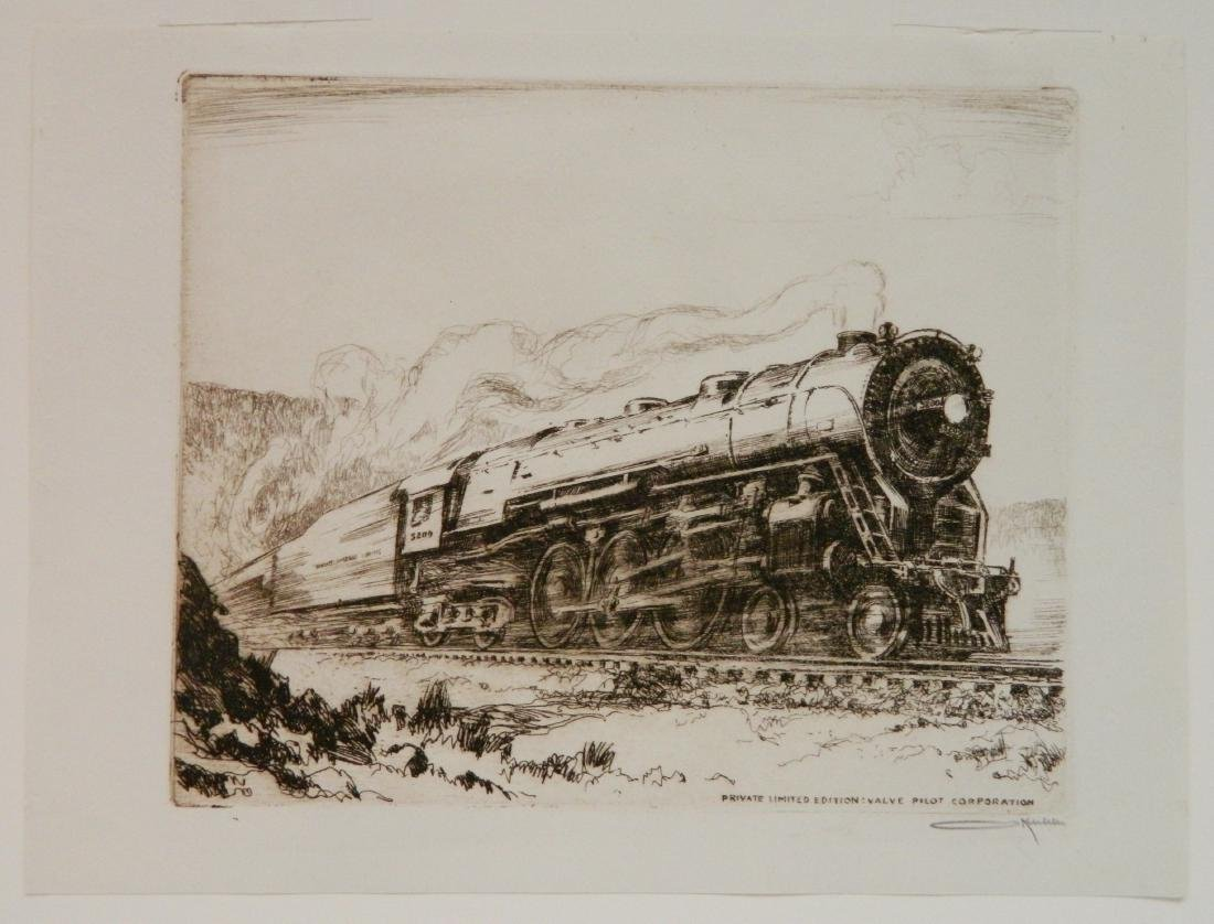 Otto Kuhler etching - 2