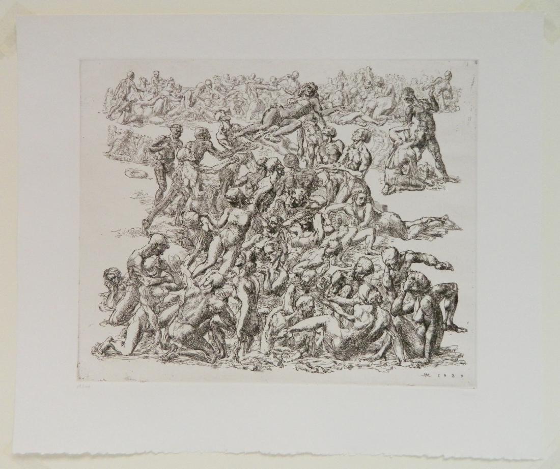 Reginald Marsh etching - 2