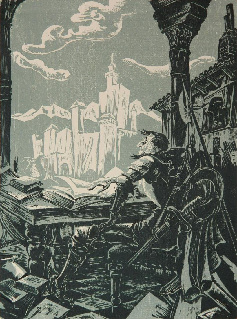 Hans Alexander Mueller chiaroscuro woodcut