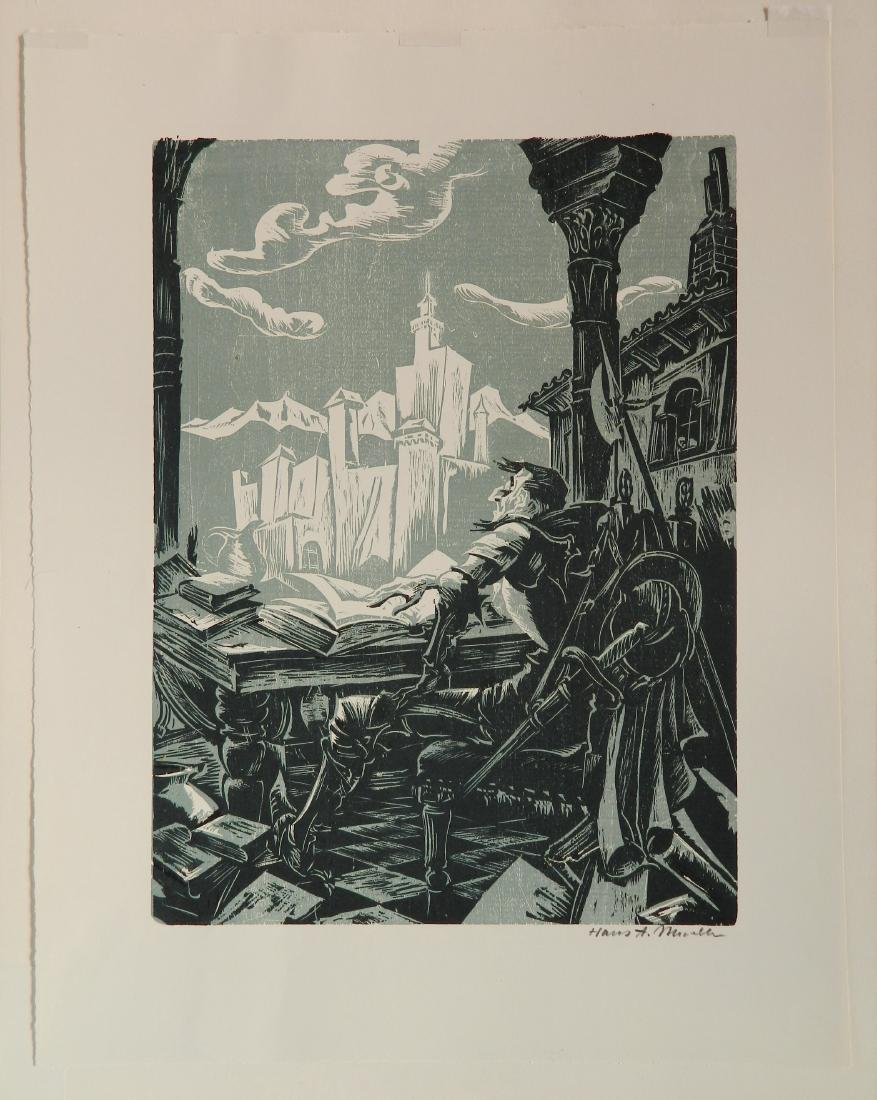Hans Alexander Mueller chiaroscuro woodcut - 2