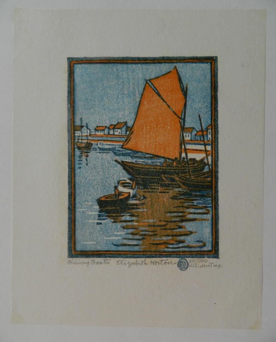 Elizabeth Norton woodcut - 2