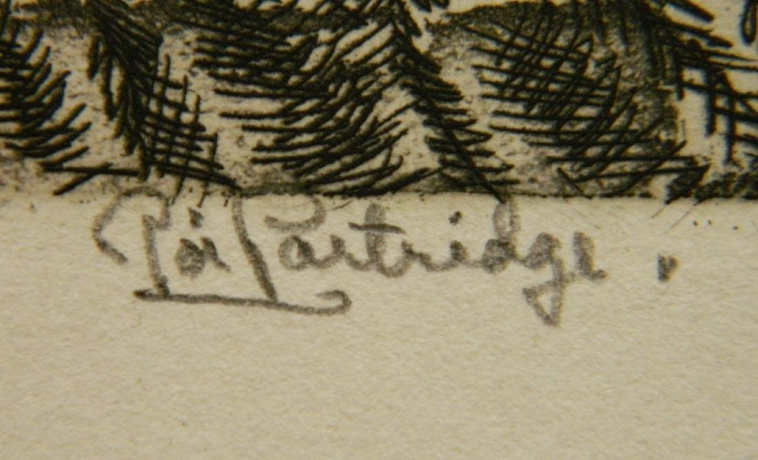 Roi Partridge etching - 3