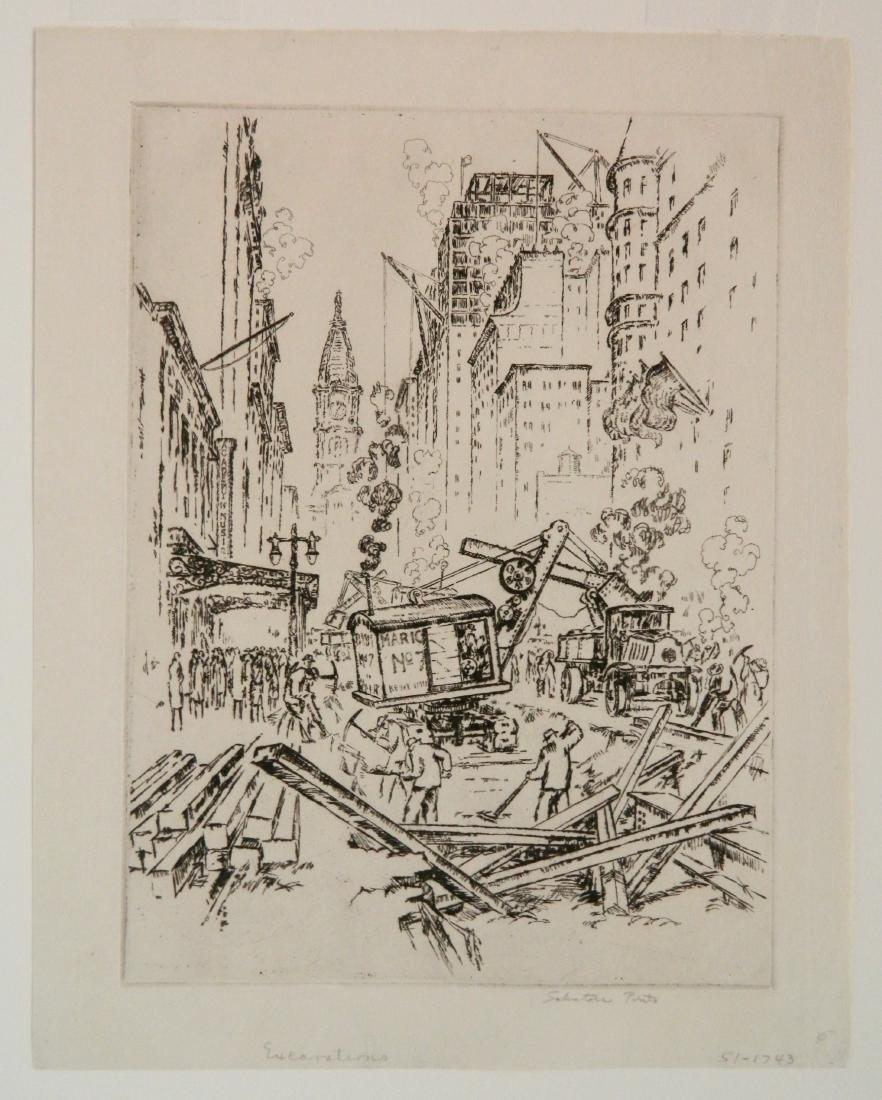 Salvatore Pinto etching - 2