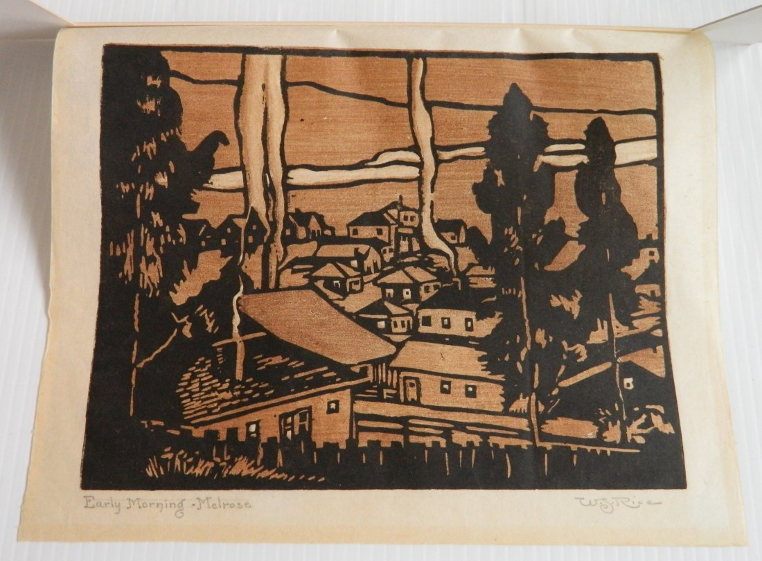 William S. Rice woodcut - 2