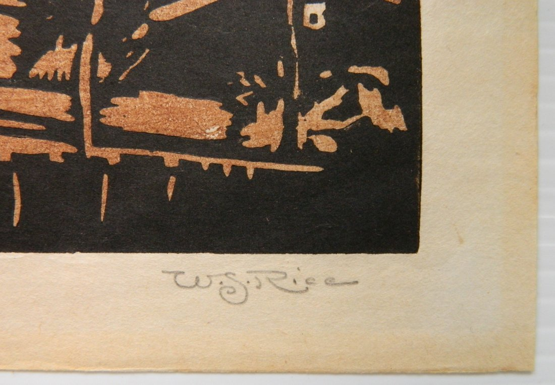 William S. Rice woodcut - 3