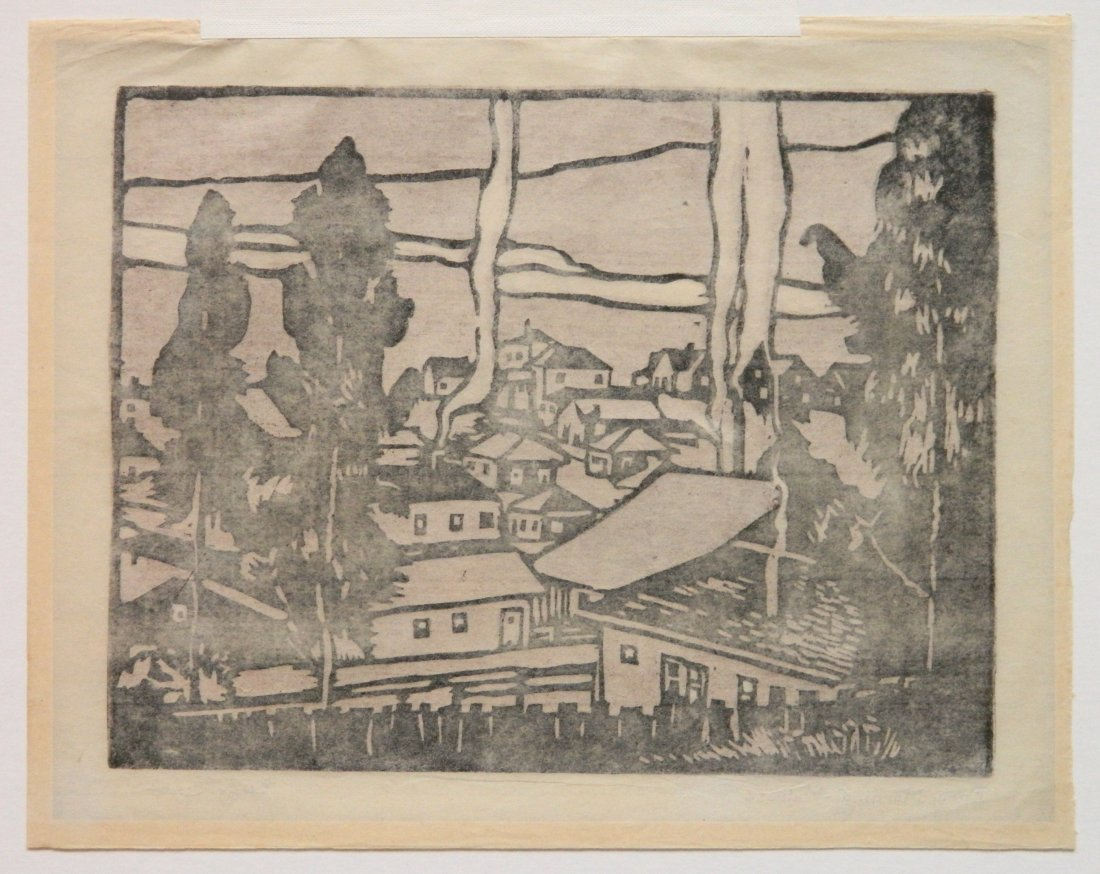 William S. Rice woodcut - 4