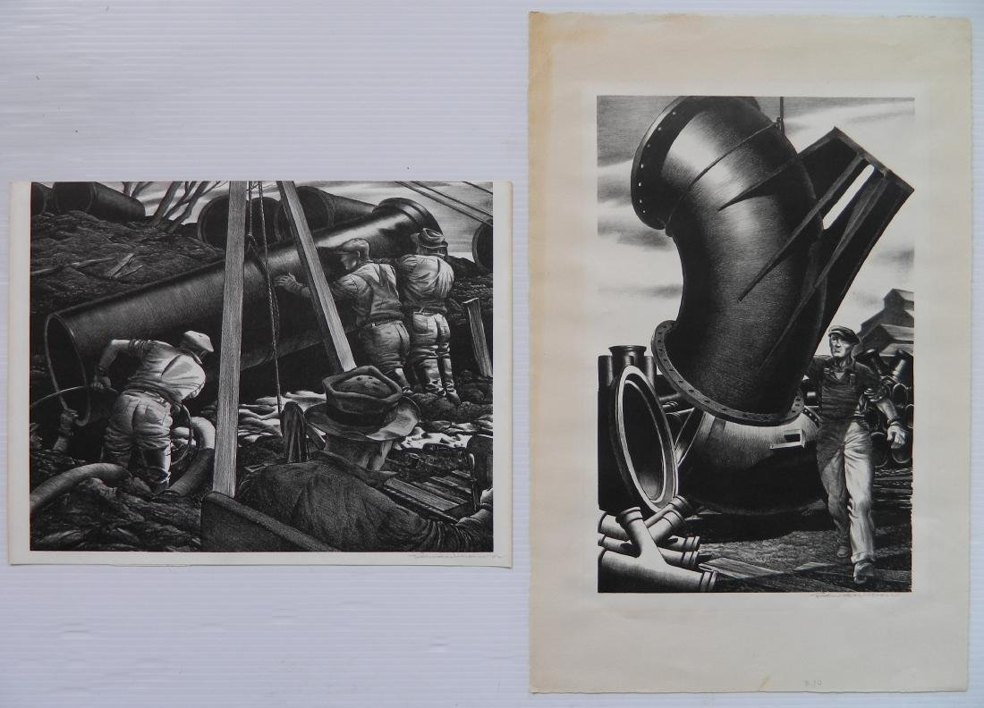 Edward A. Wilson 2 lithographs
