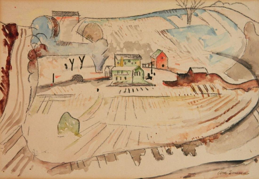 William Sommer watercolor