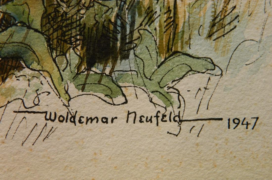 Woldemar Neufeld watercolor and ink - 3