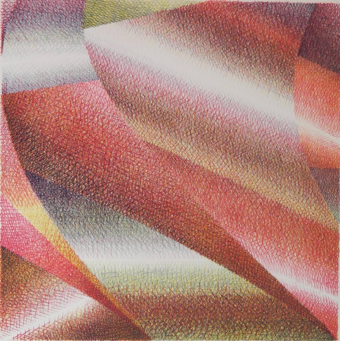 Samia Halaby lithograph