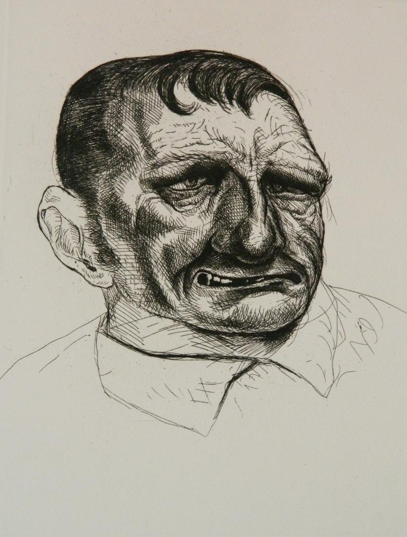 Peter Howson engraving