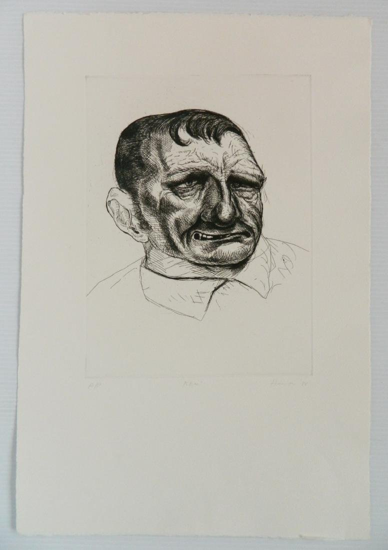 Peter Howson engraving - 2