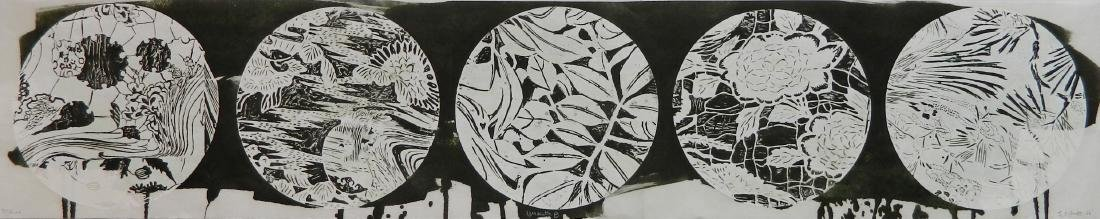 Judy Pfaff woodcut