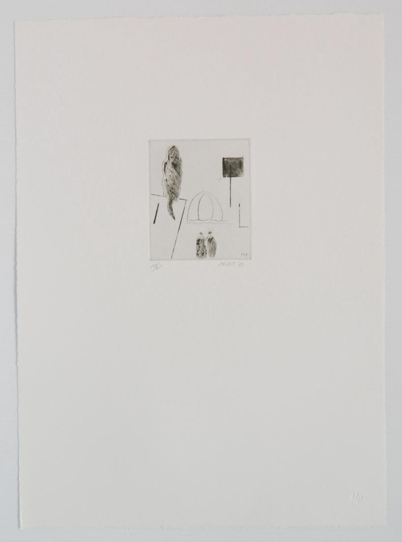 Matt Phillips portfolio of 5 drypoint etchings - 10