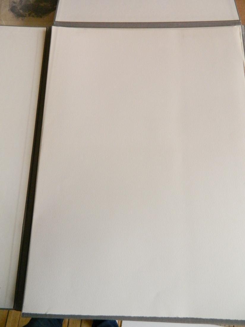 Matt Phillips portfolio of 5 drypoint etchings - 2