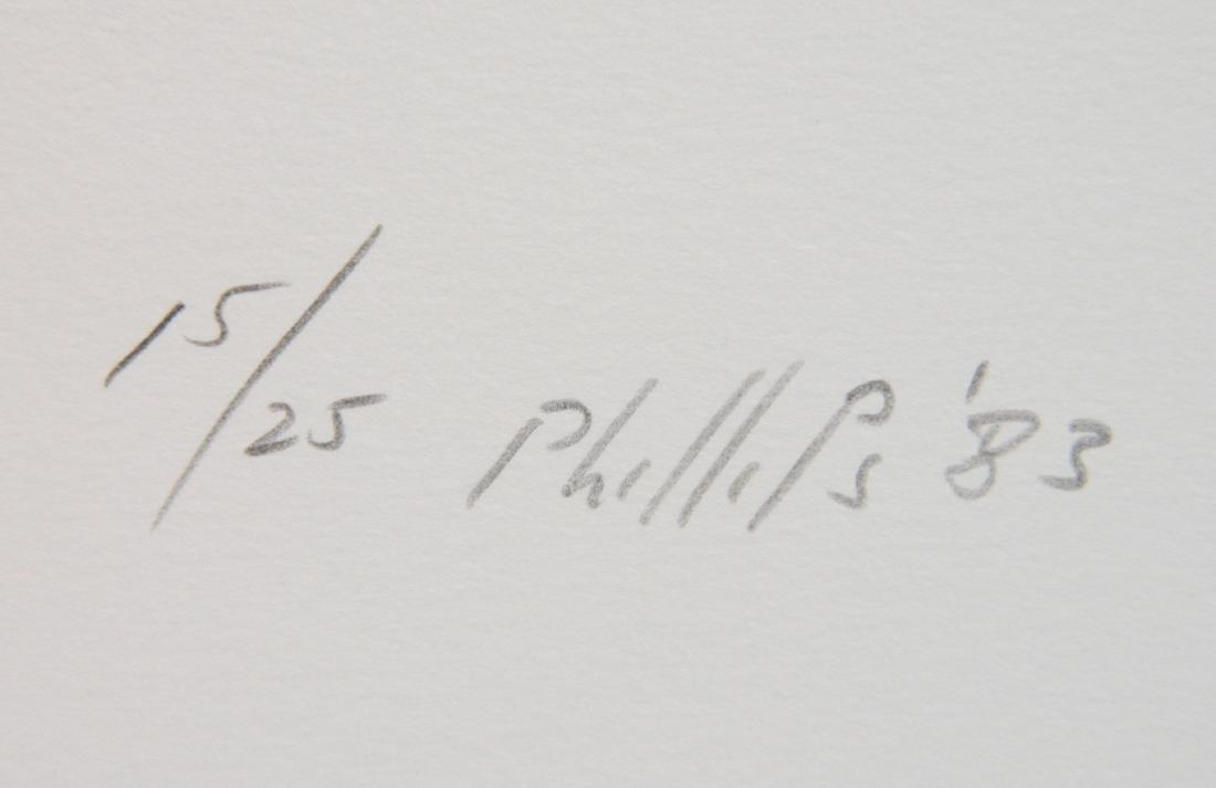 Matt Phillips portfolio of 5 drypoint etchings - 4