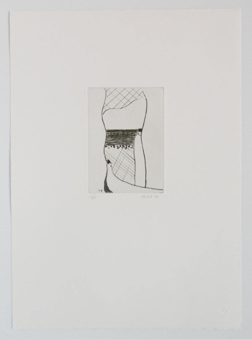 Matt Phillips portfolio of 5 drypoint etchings - 5