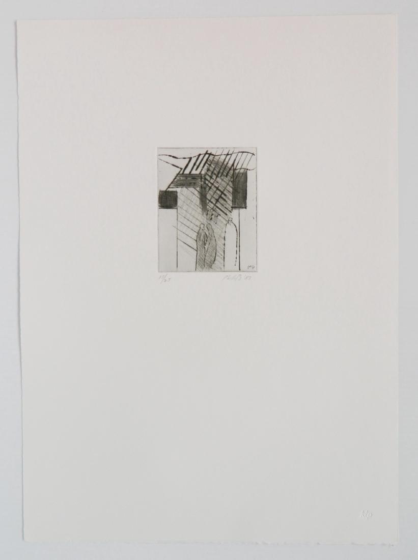Matt Phillips portfolio of 5 drypoint etchings - 8