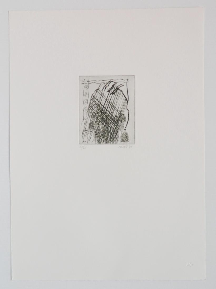 Matt Phillips portfolio of 5 drypoint etchings - 9