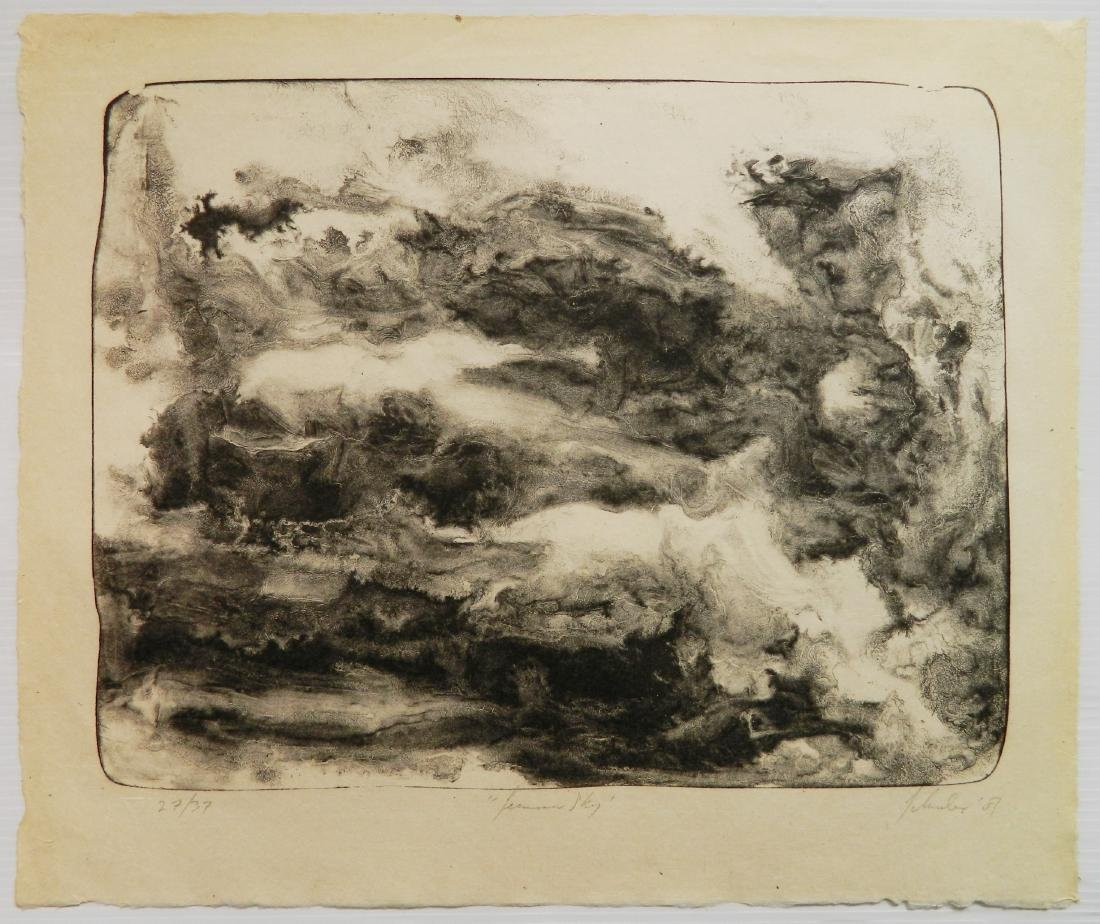 Jon Schueler lithograph - 2