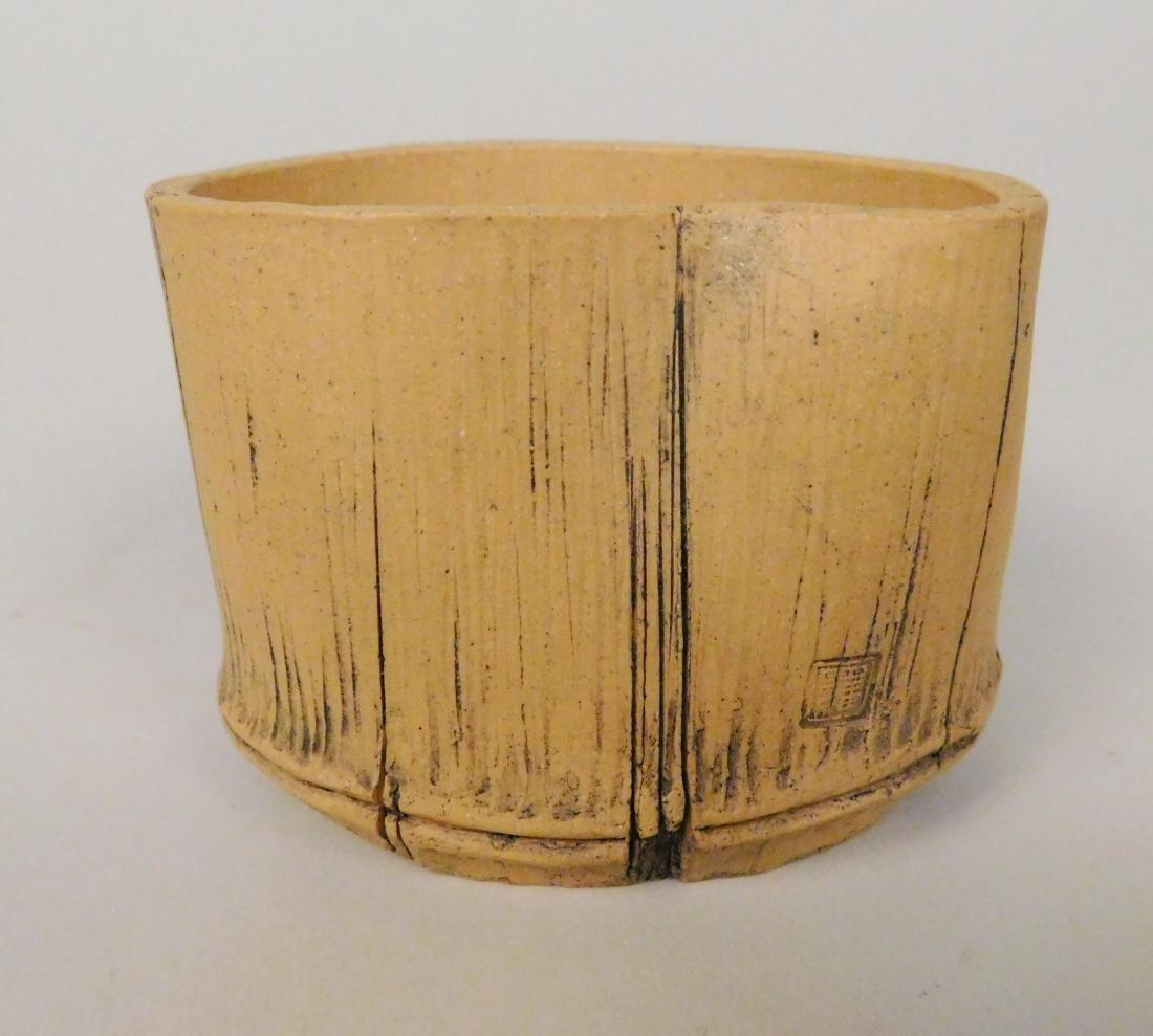 Cut bamboo cup