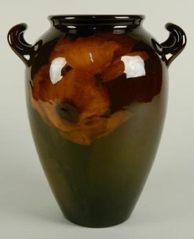 Rookwood Pottery 2 handle poppy vase