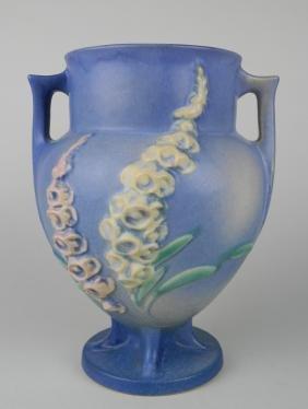 Roseville Pottery Foxglove blue vase