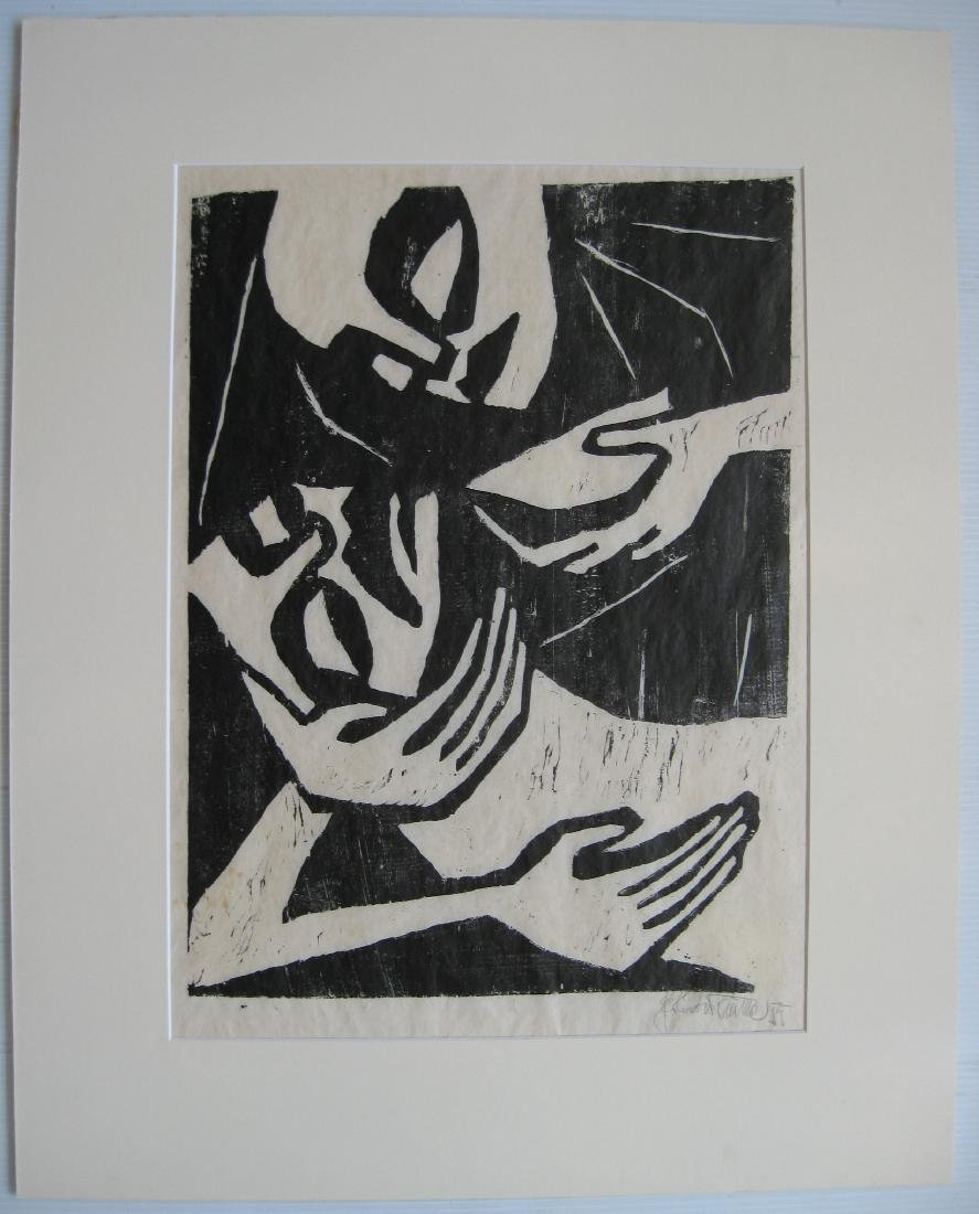 20th c. German School woodcut - 2