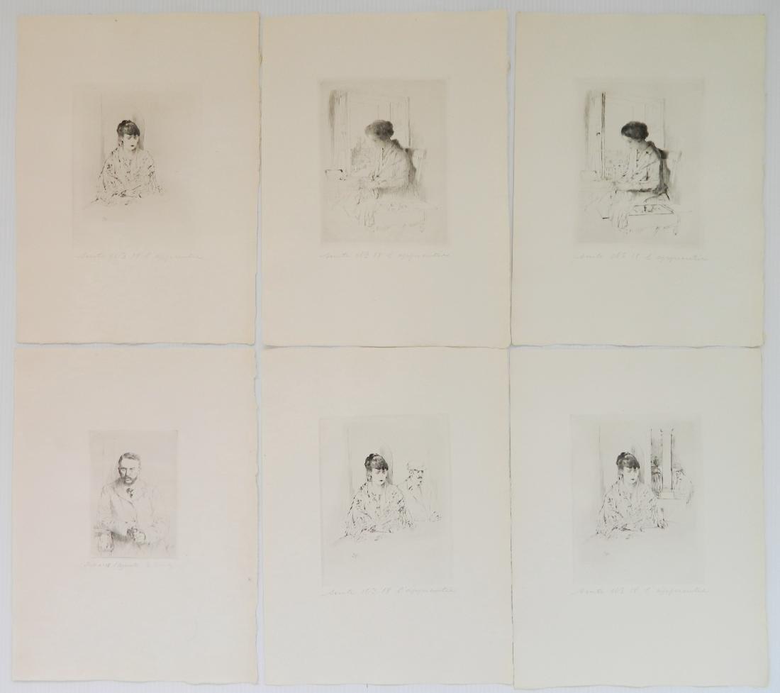 Auguste Brouet etchings