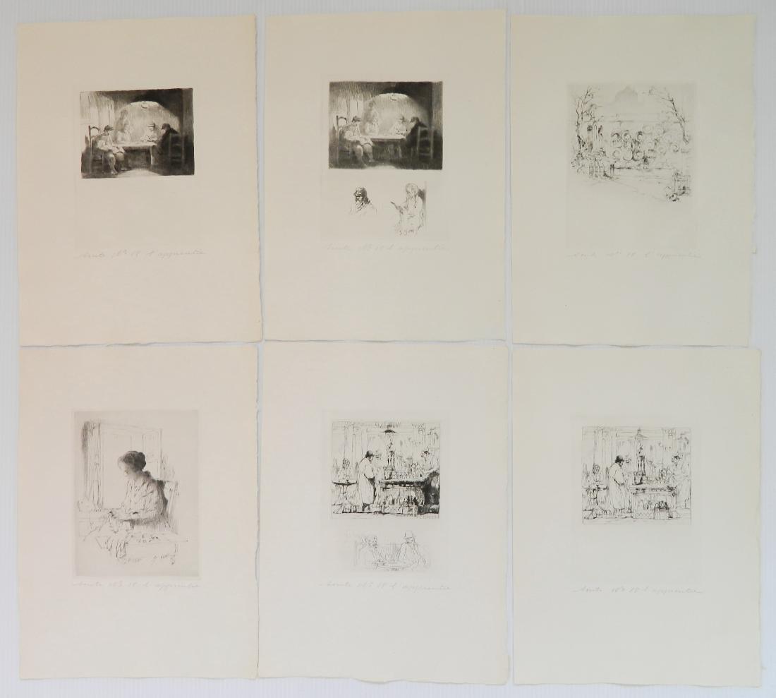 Auguste Brouet etchings - 2