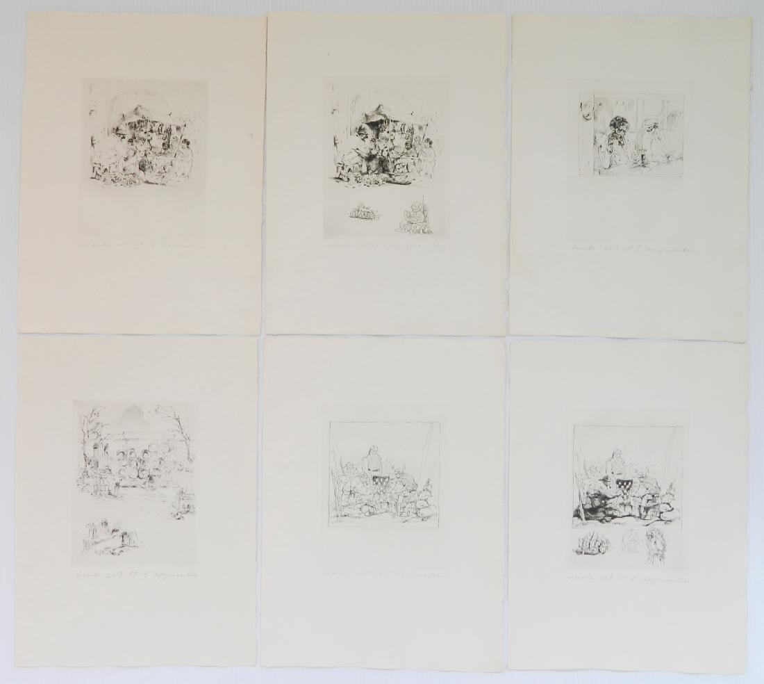 Auguste Brouet etchings - 3