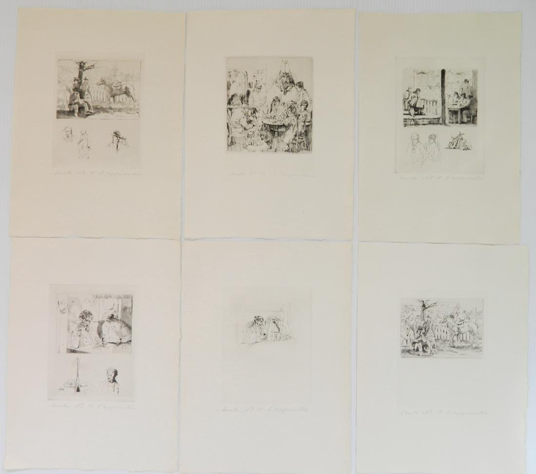 Auguste Brouet etchings - 4